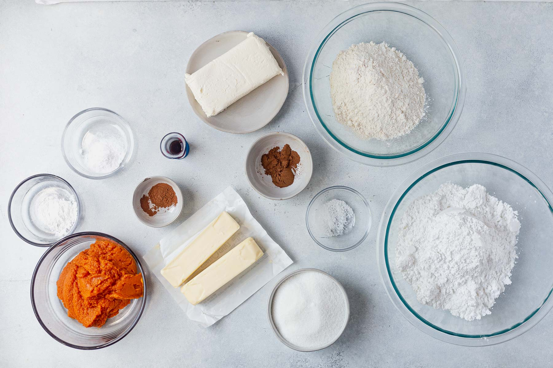 ingredients for pumpkin cookies on a table