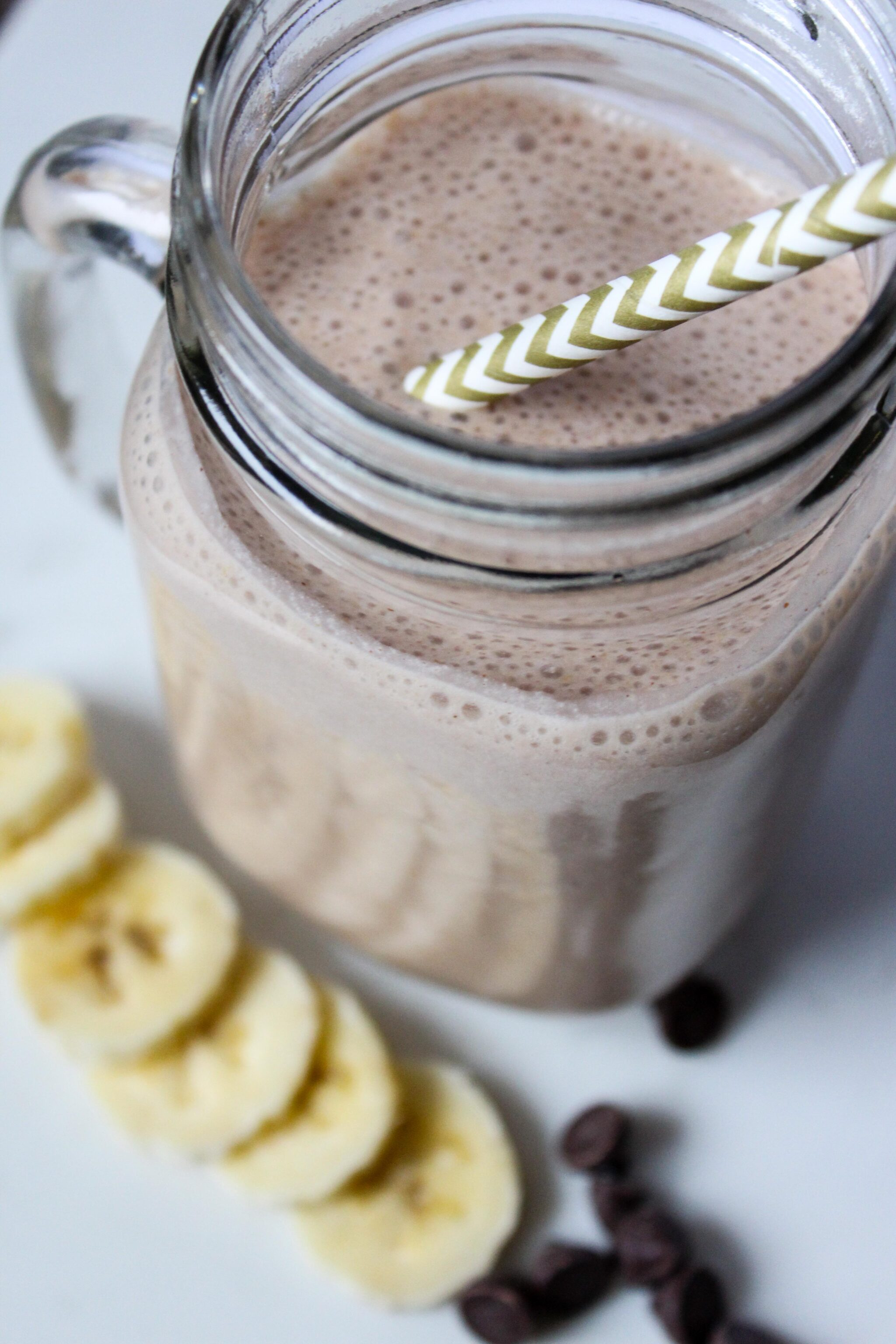 Chocolate Peanut Butter Cake Batter Smoothie