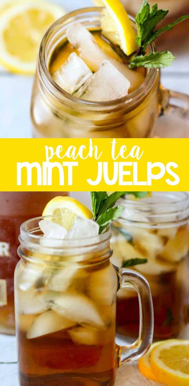 peach tea mint juleps