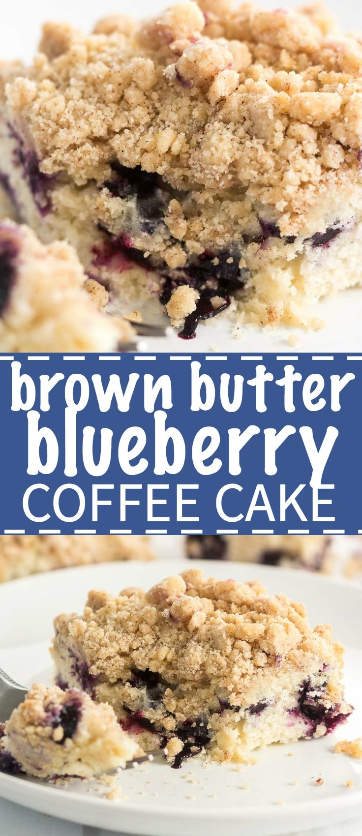 Brown Butter Blueberry Coffee Cake is what what breakfast dreams are made of. The cake itself is moist and flavorful, bursting with blueberries and it's topped with a cinnamon crumble for extra texture and flavor. When you're debating what special breakfast to make for a weekend brunch or holiday celebration, look no further.