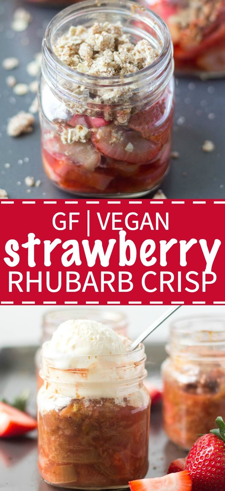 You will love this strawberry rhubarb crisp for all it's summertime flavor, but you will also love that it's vegan and gluten free and has no refined sugar!