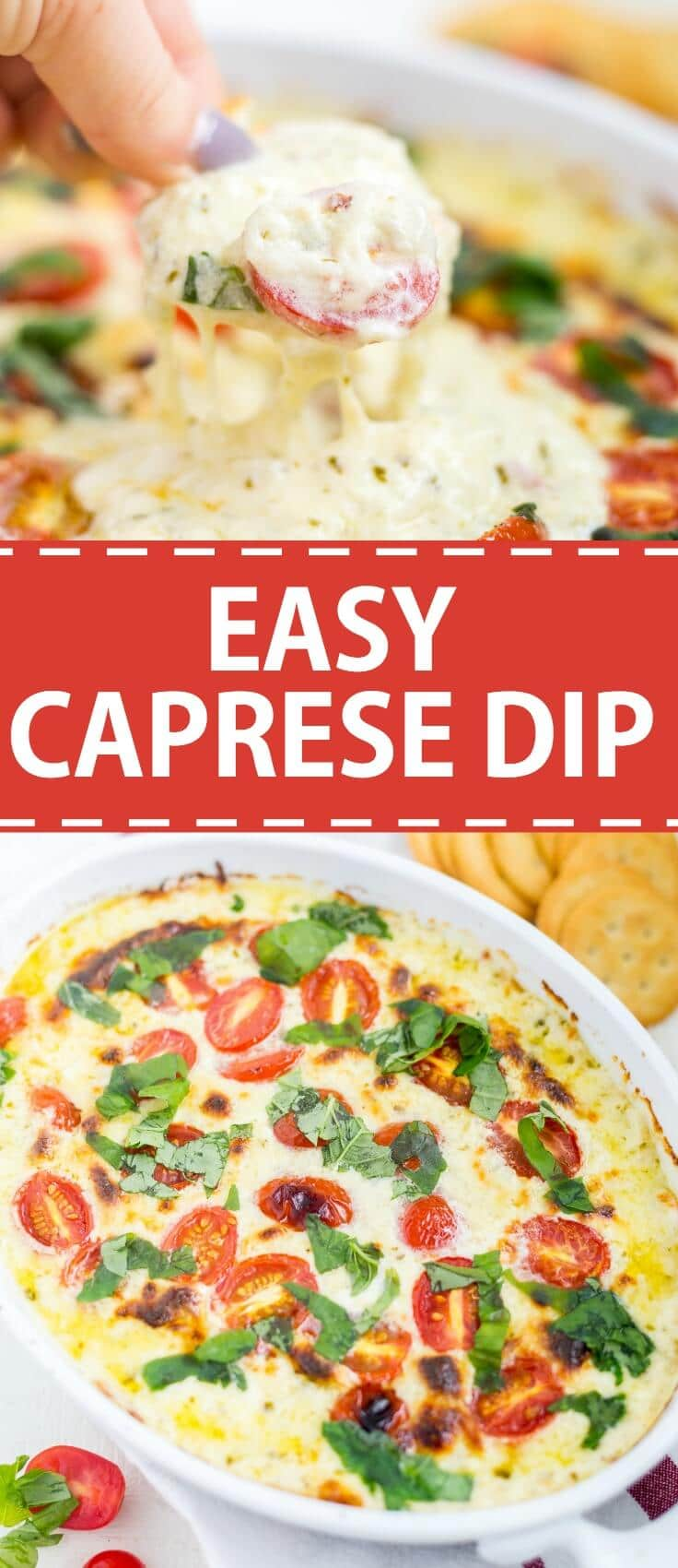 easy caprese dip