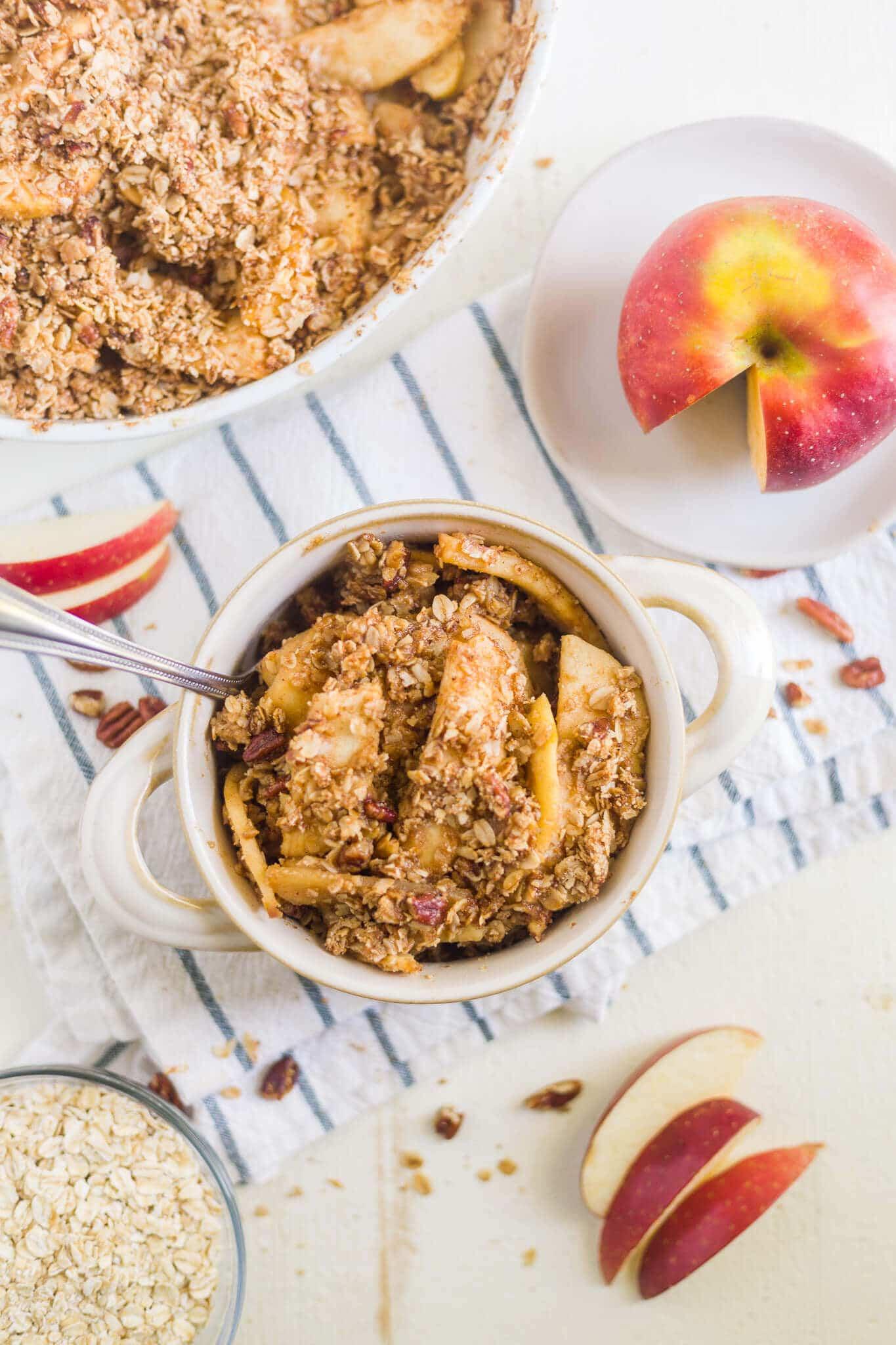 healthy apple crisp