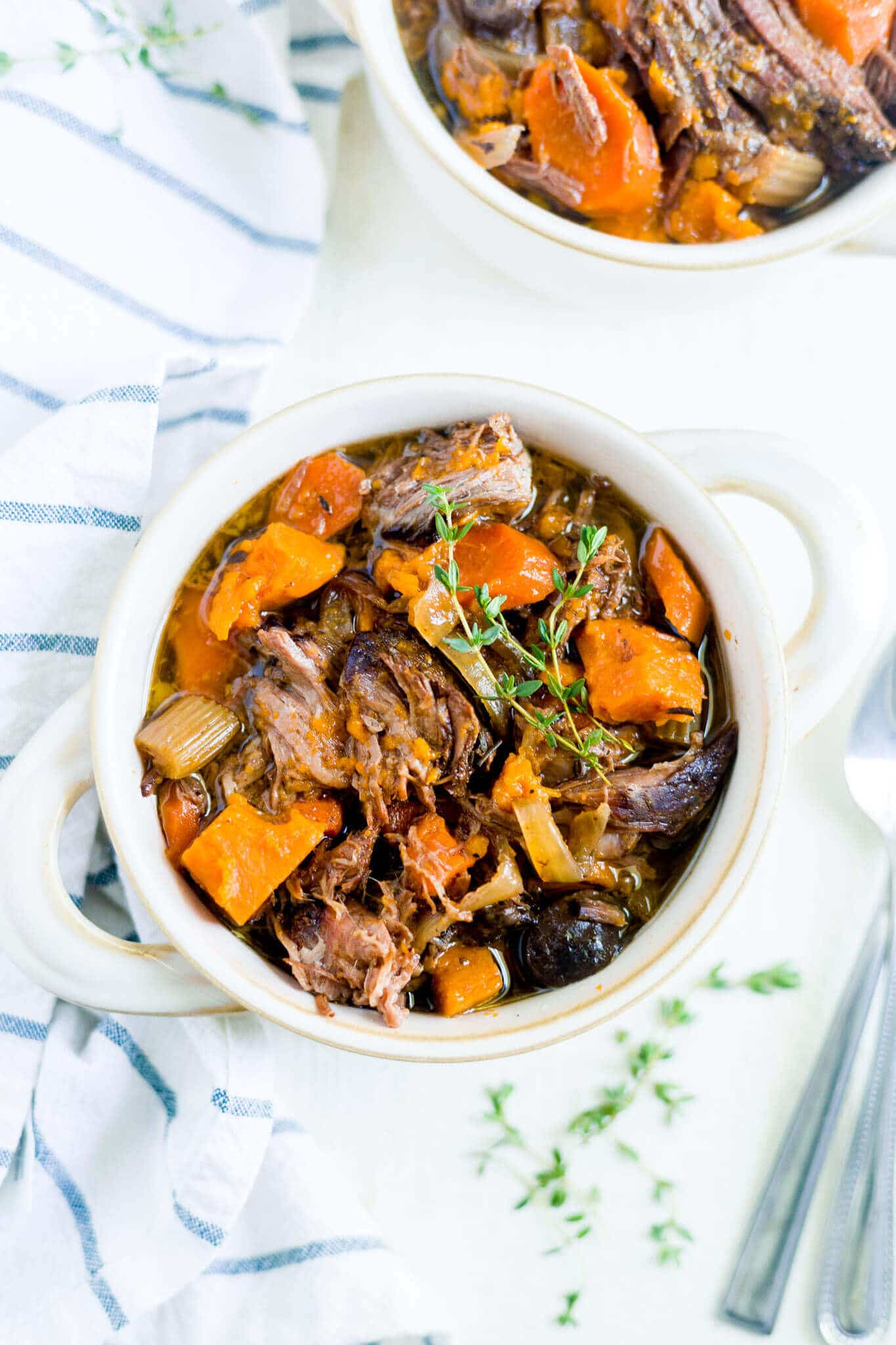 Slow Cooker Sweet Potato Beef Stew What Molly Made