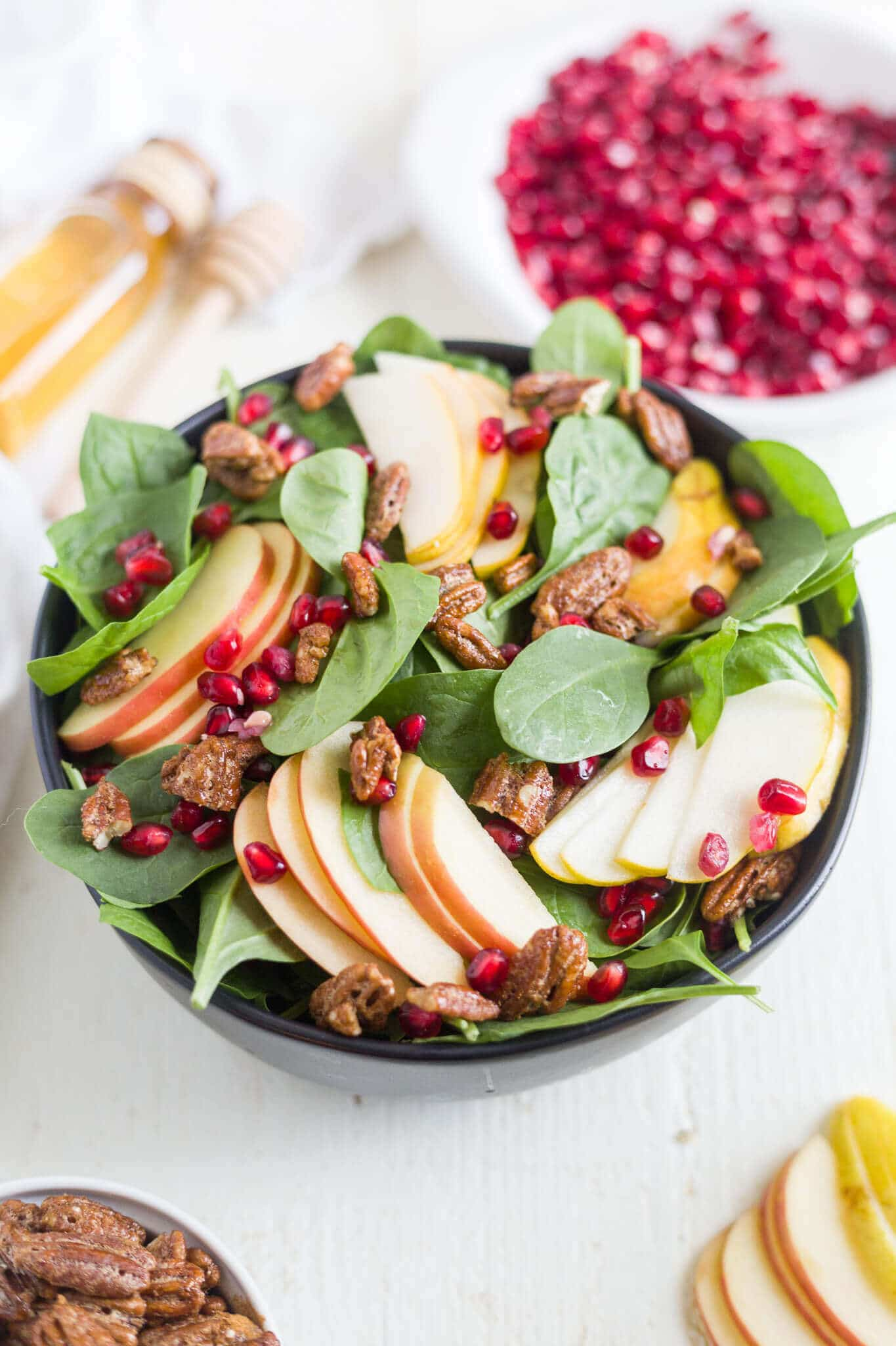 pear goat cheese salad
