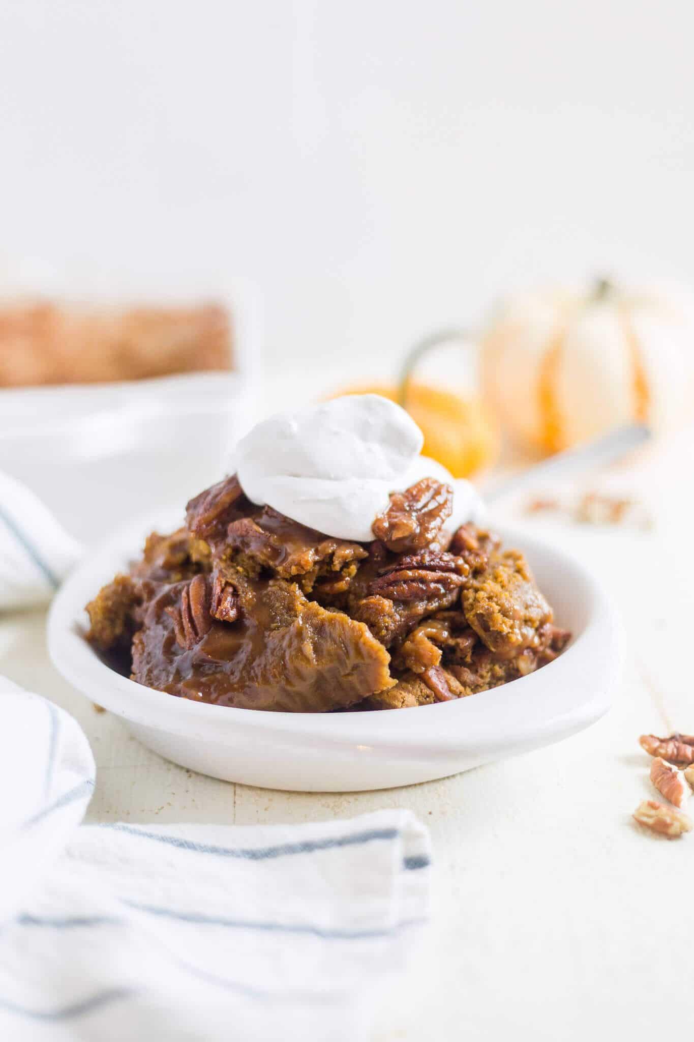 pumpkin pie pecan cobbler
