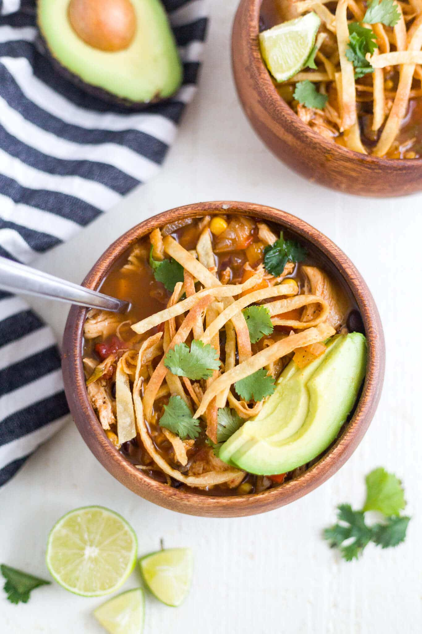 Healthy Slow Cooker Chicken Tortilla Soup What Molly Made