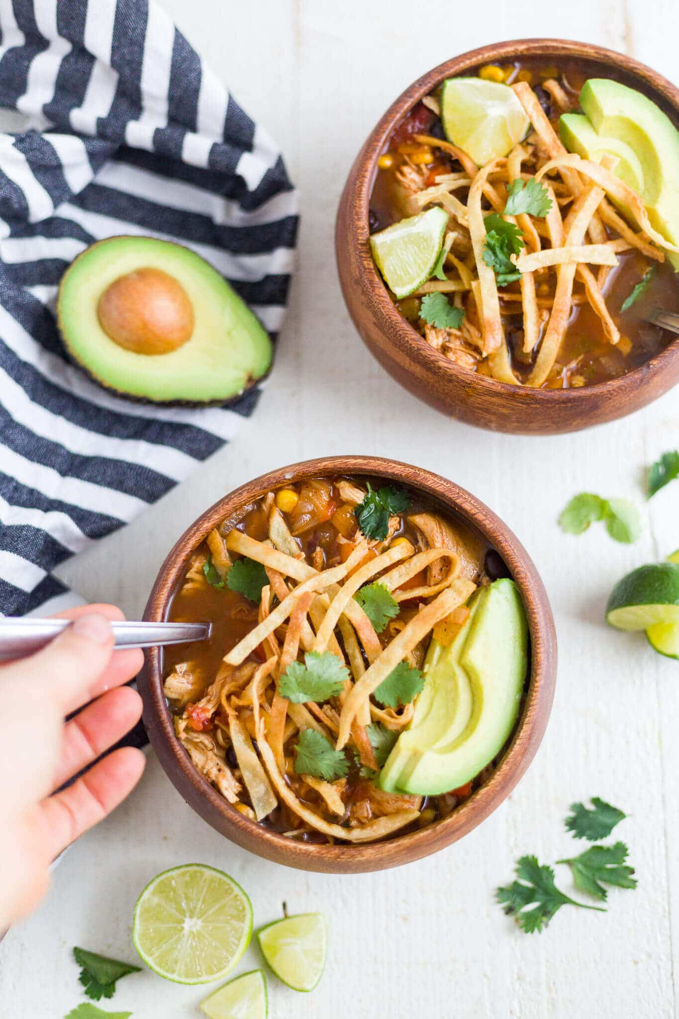 healthy chicken tortilla soup crock pot