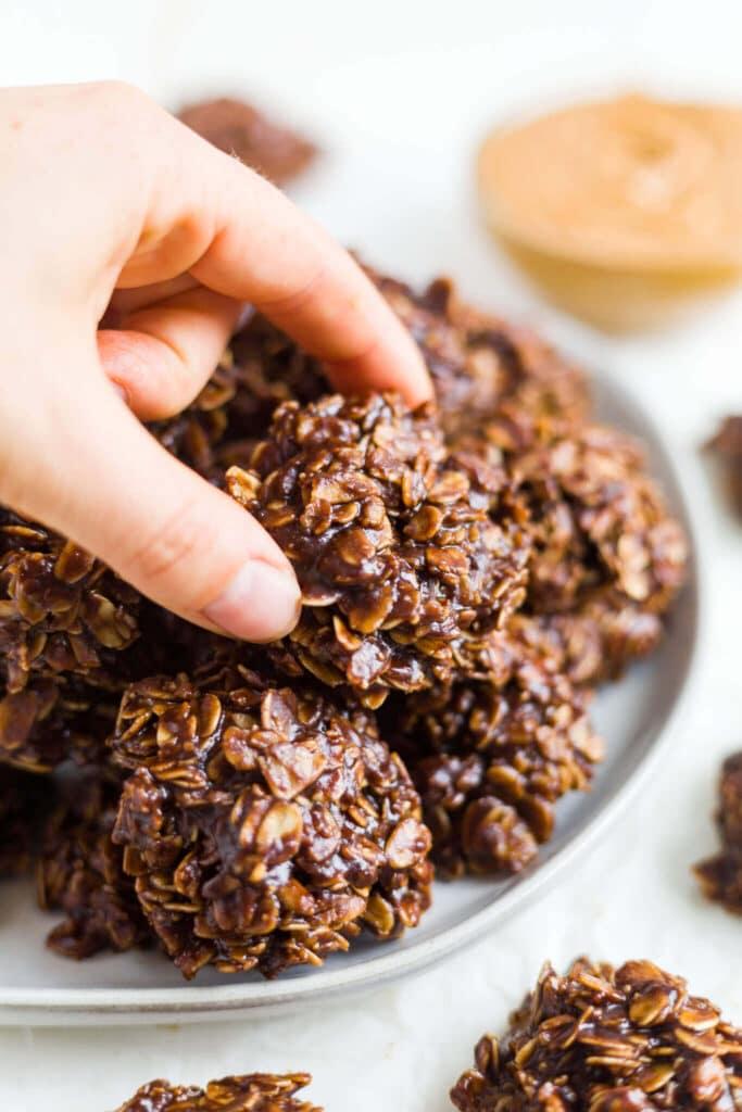 No Bake Chocolate Oatmeal Cookies Gluten Free Vegan