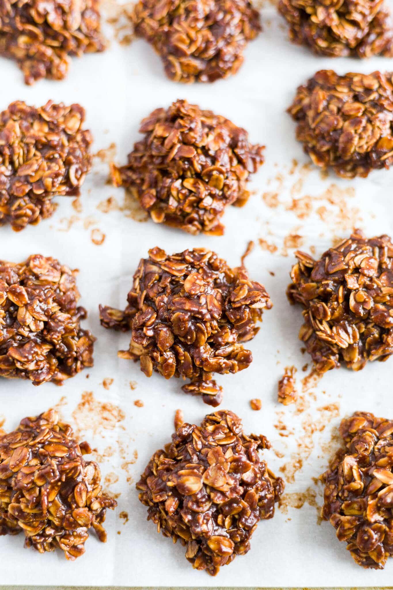 no bake chocolate peanut butter oatmeal cookies