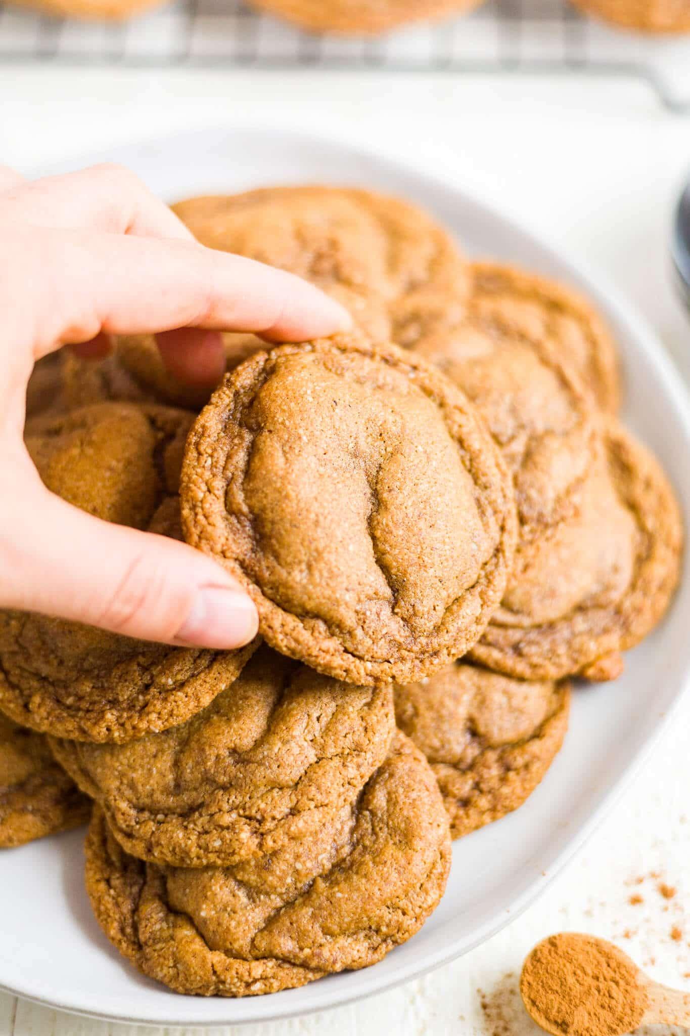 paleo molasses cookies