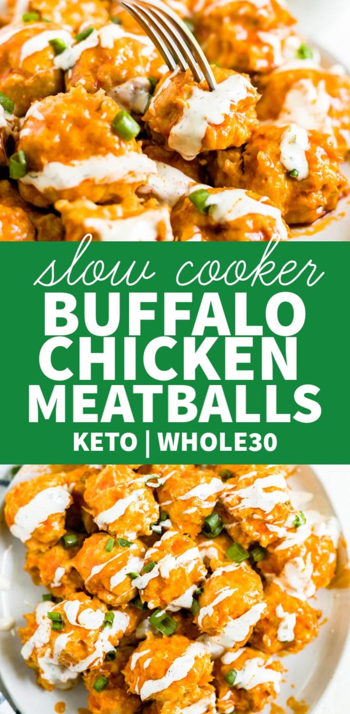 crock pot buffalo chicken meatballs