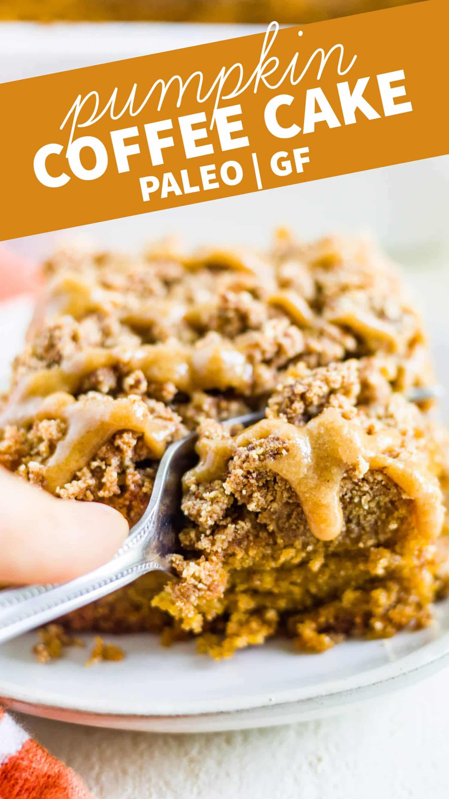 pumpkin coffee cake gluten free paleo