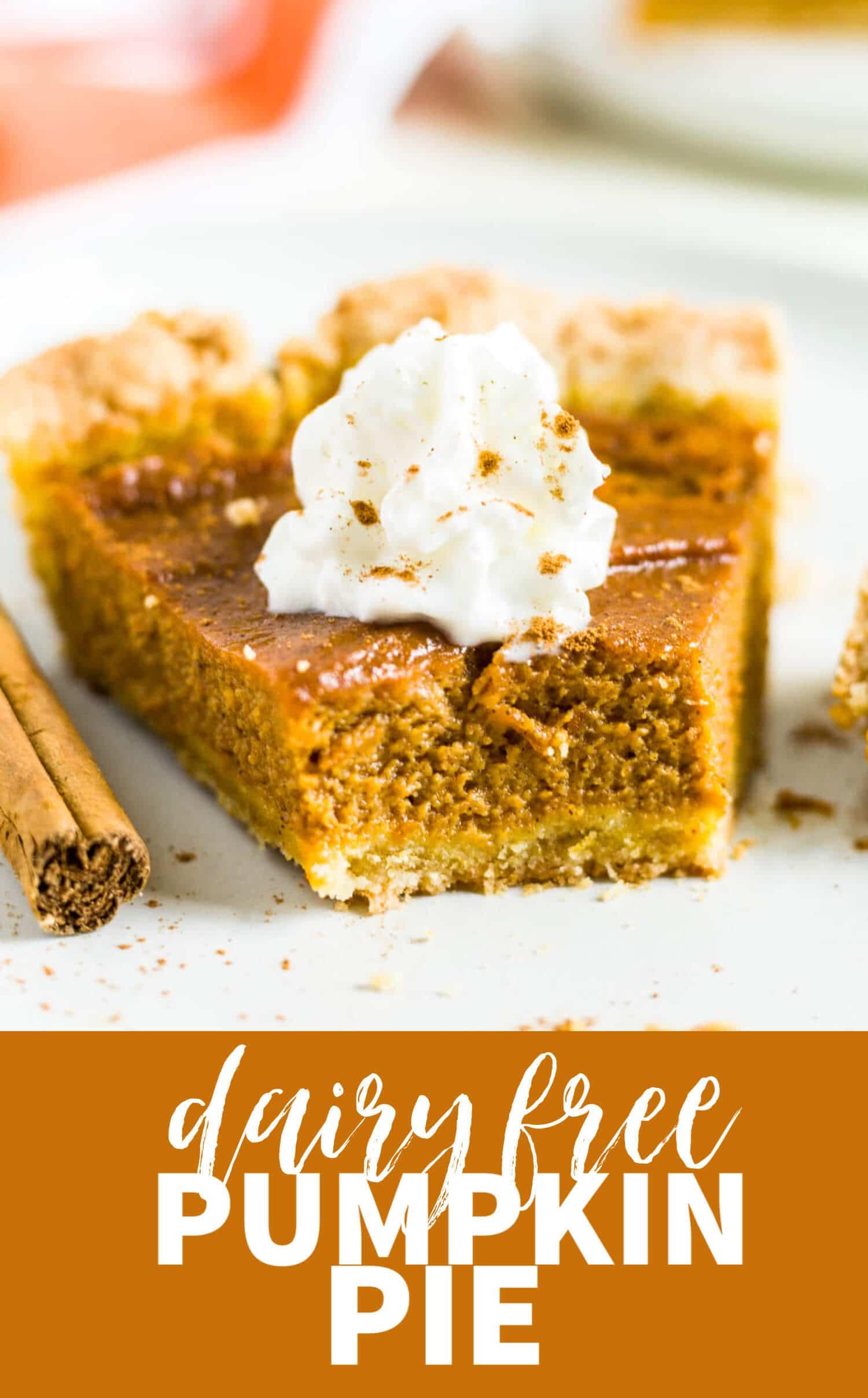 easy dairy free pumpkin pie