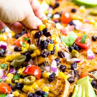 sweet potato black bean nachos