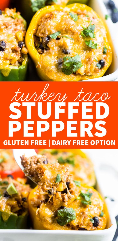turkey taco stuffed peppers