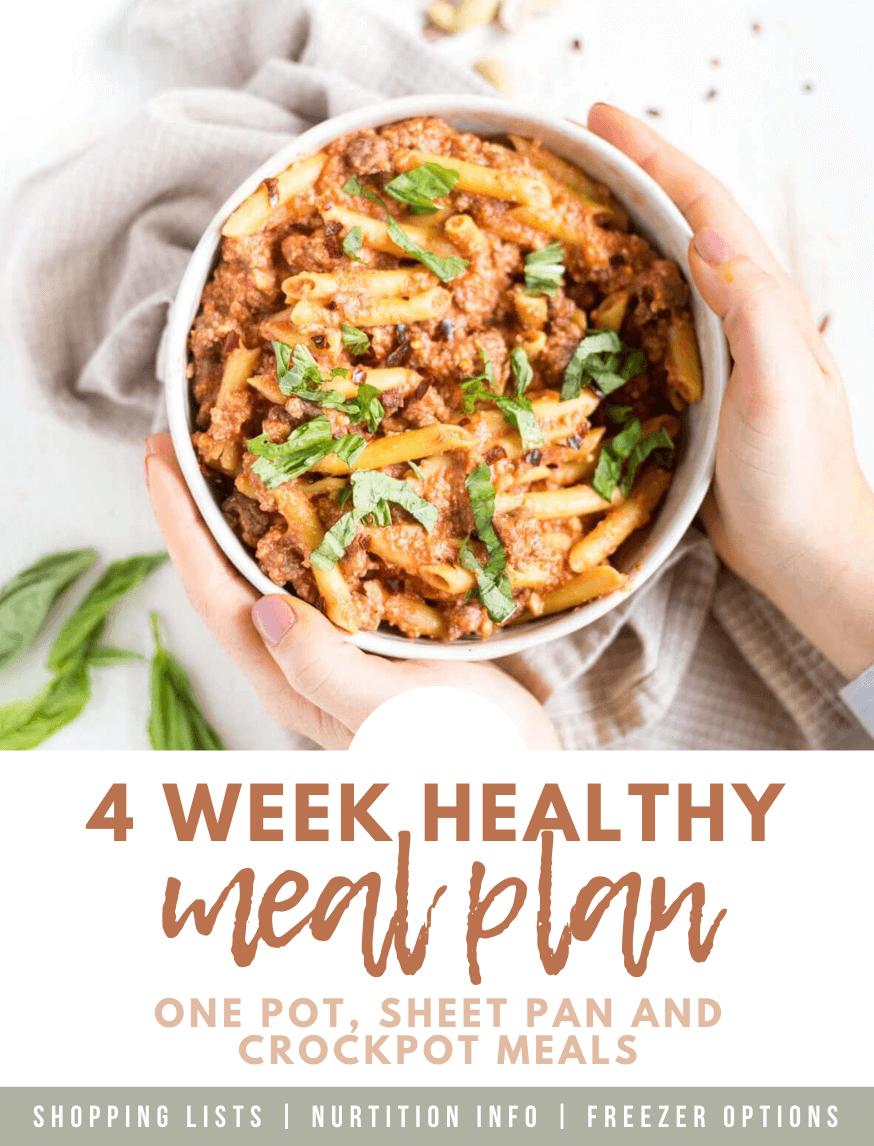 4 week meal plan ebook cover