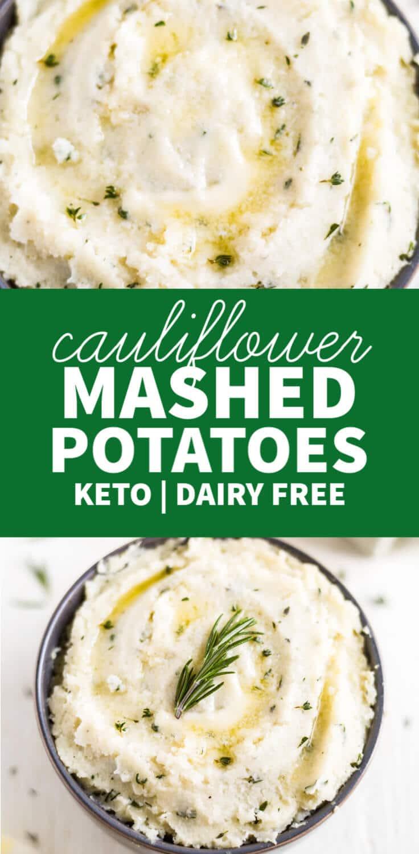 cauliflower mashed potatoes recipe keto