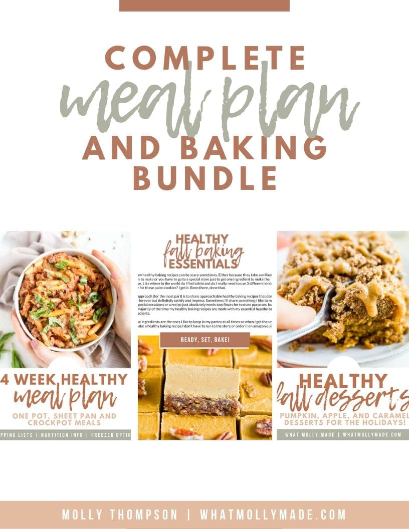 complete meal plan and baking bundle