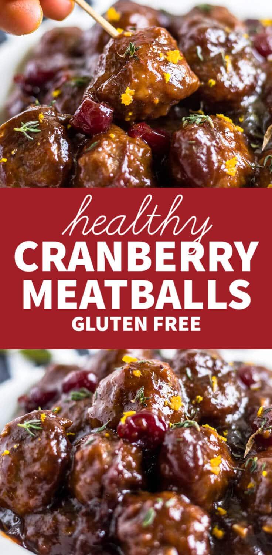 healthy cranberry meatballs