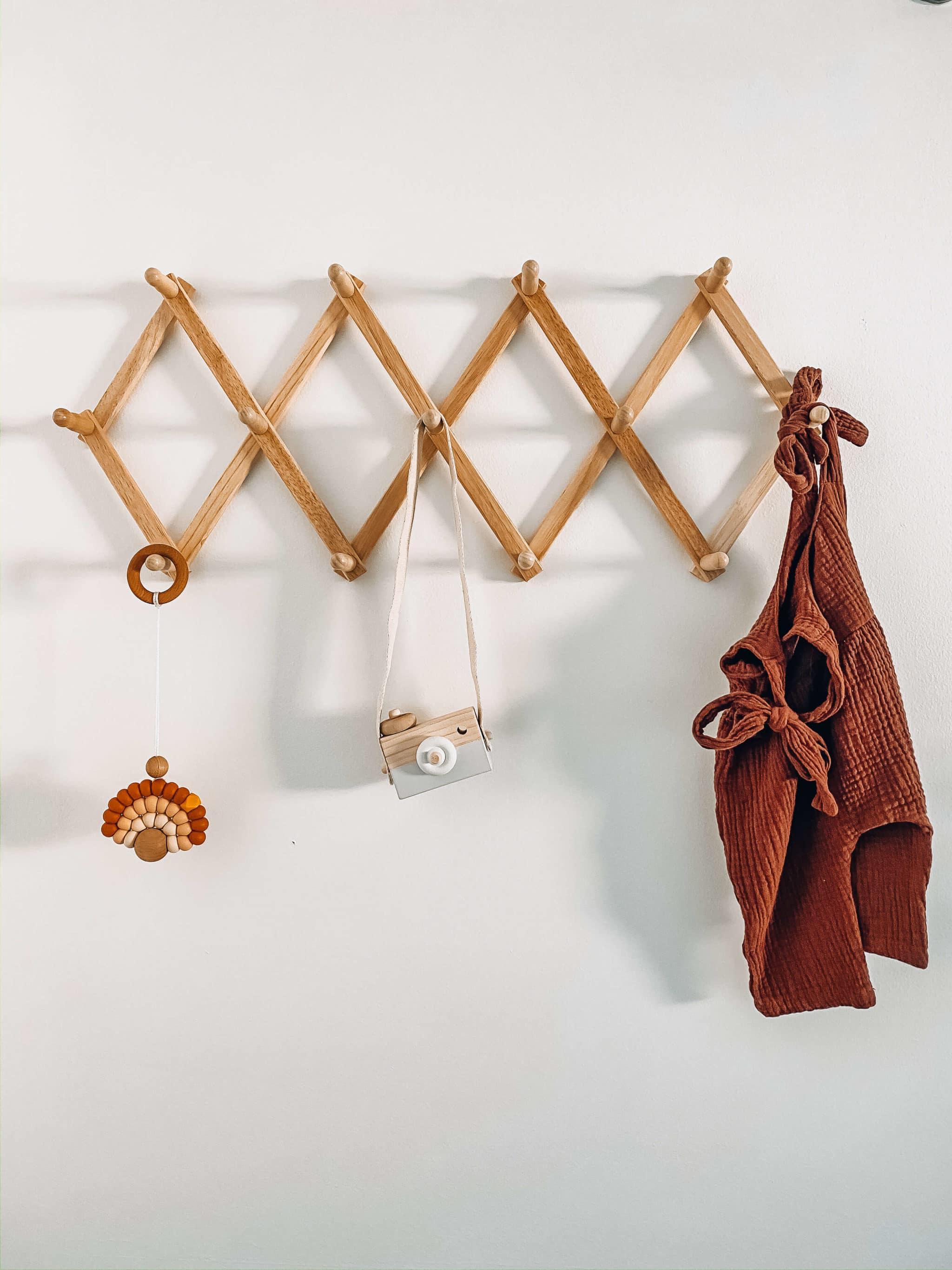 light wood coffee rack boho nursery decor