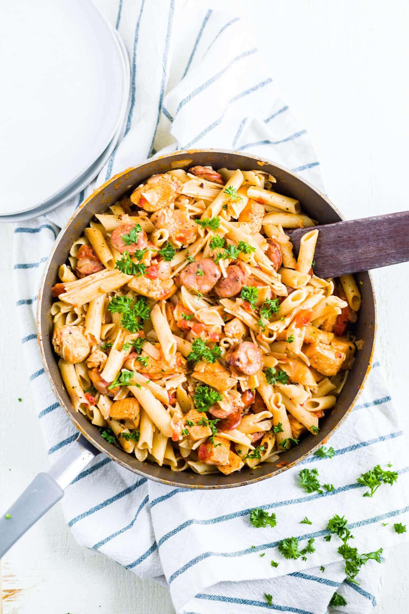 one pot cajun chicken pasta