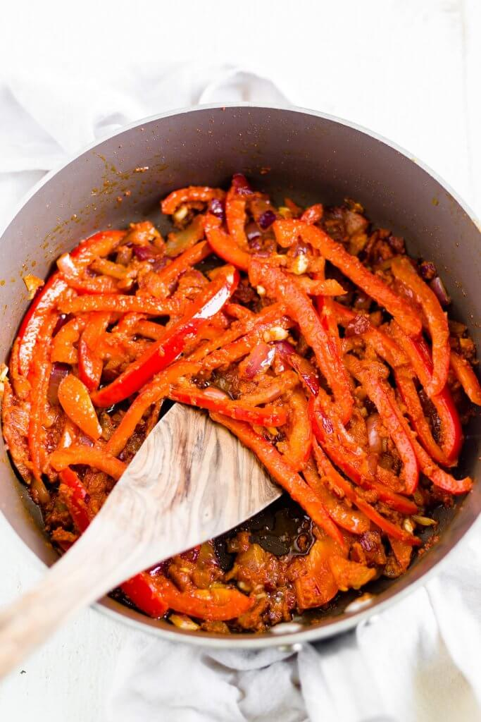 red peppers with thai curry spices