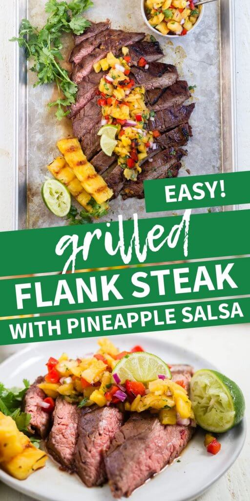 grilled flank steak pin image