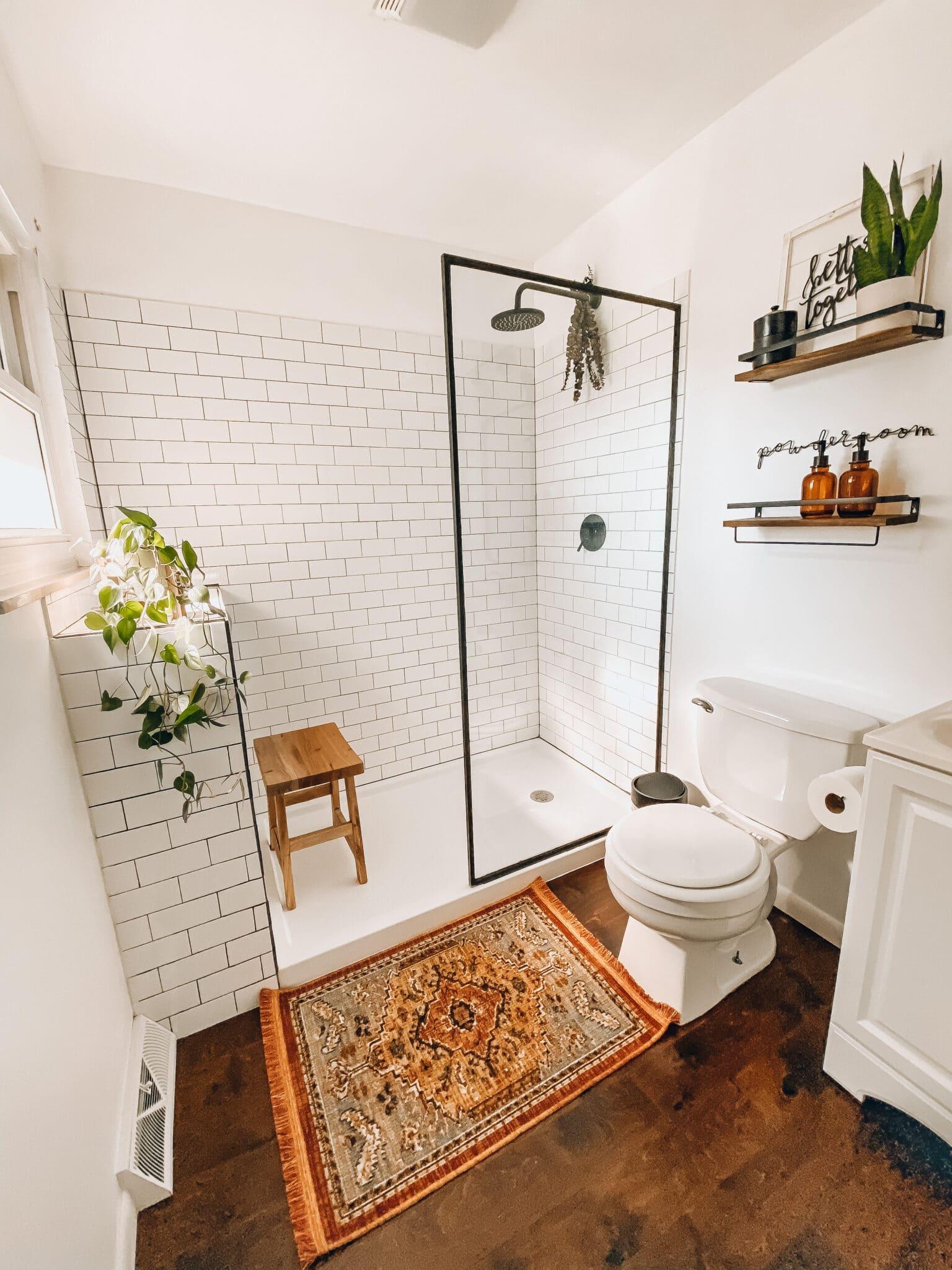 Modern Farmhouse Bathroom Remodel What Molly Made