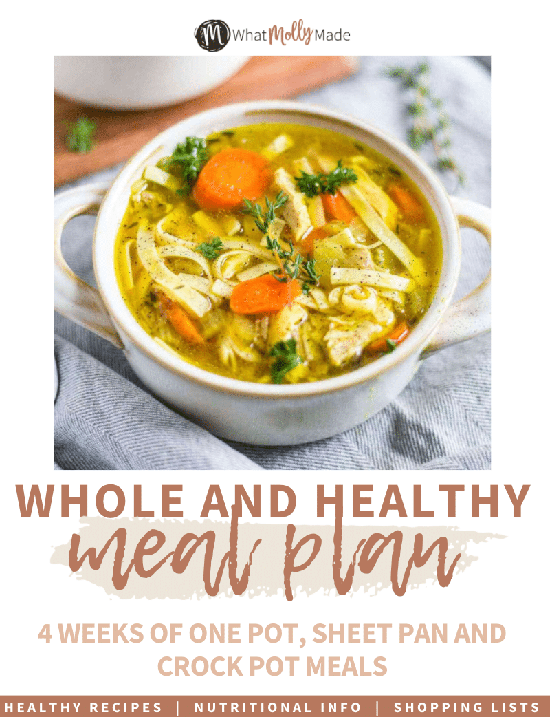 whole and healthy meal plan ebook cover