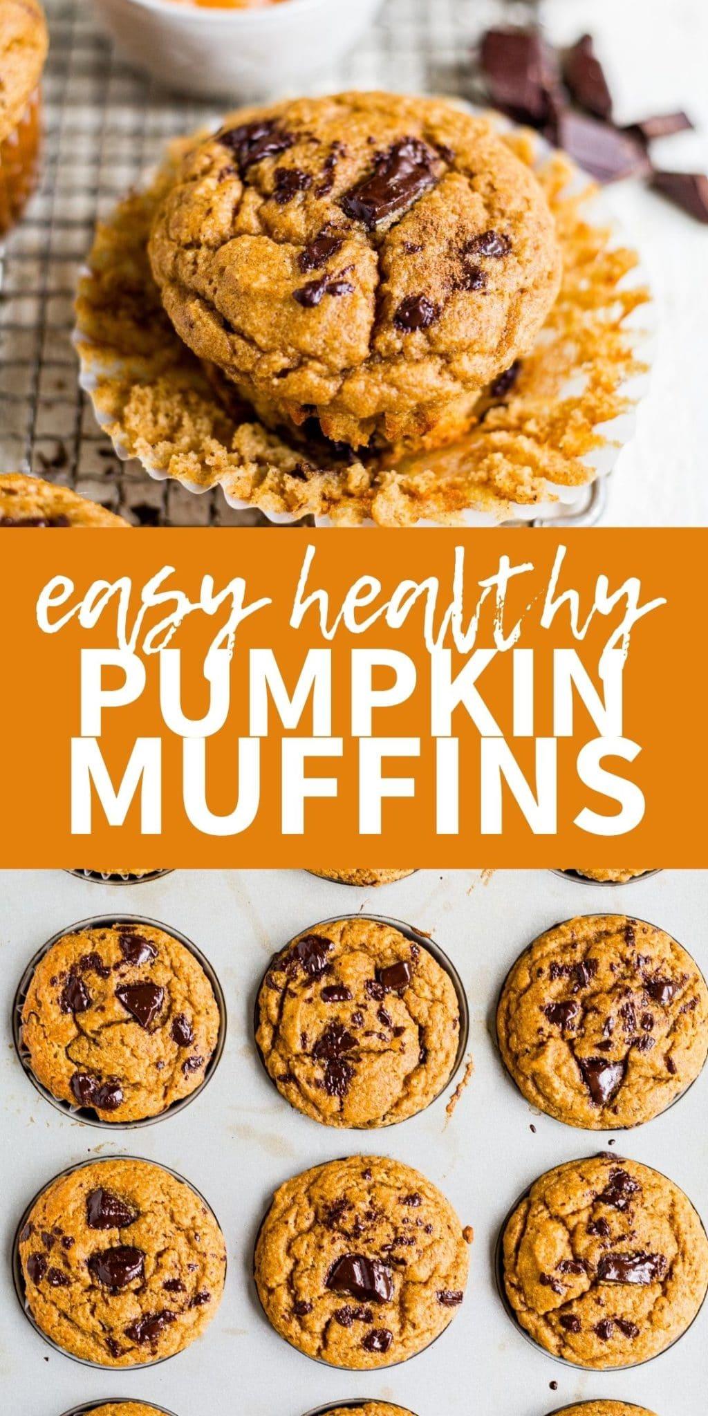 easy healthy pumpkin muffin pinterest collage