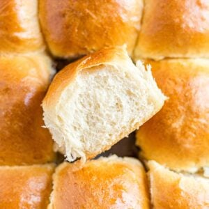 soft and warm sourdough rolls pulled apart