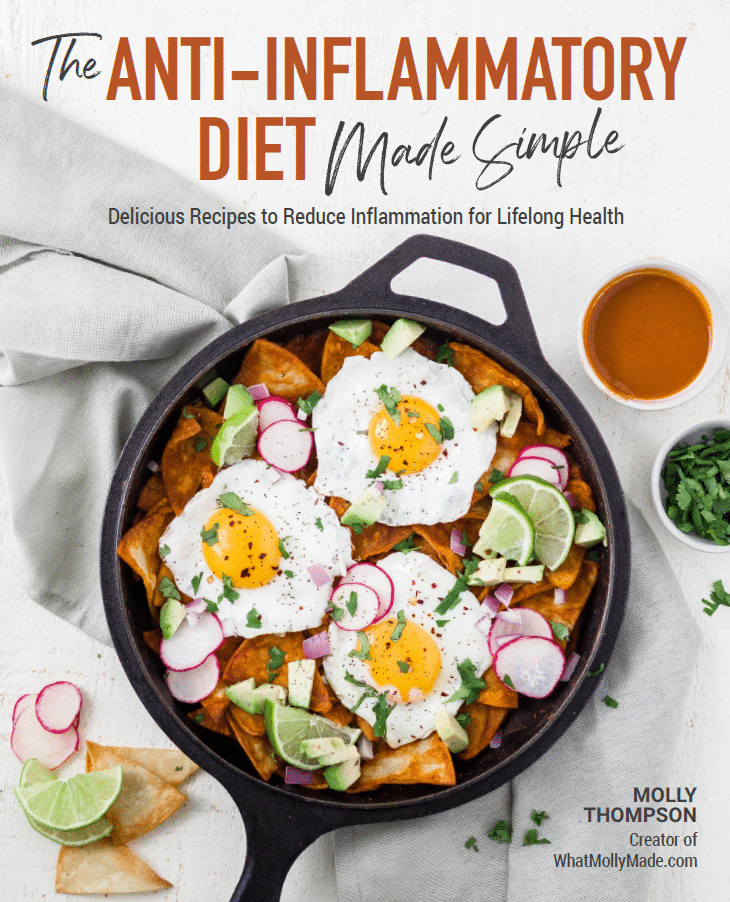 the cover of the anti inflammatory diet made simple cookbook
