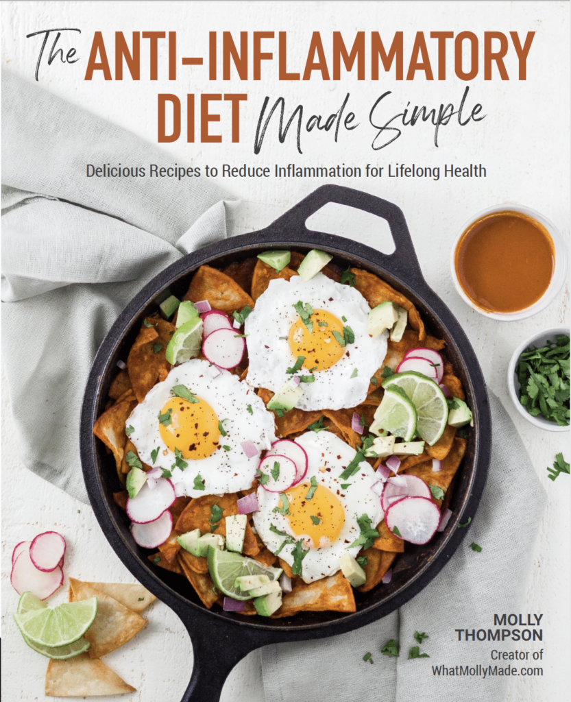 cover of the the anti-inflammatory diet made simple cookbook