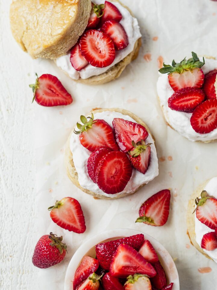 healthy strawberry shortcake is a an easy healthy dessert for summer